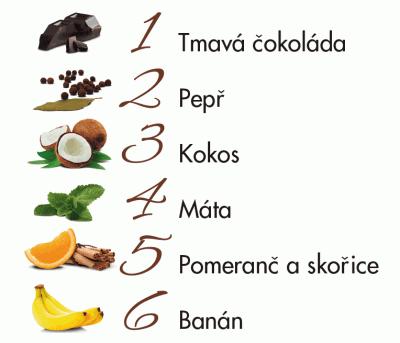 tmavé čokolády